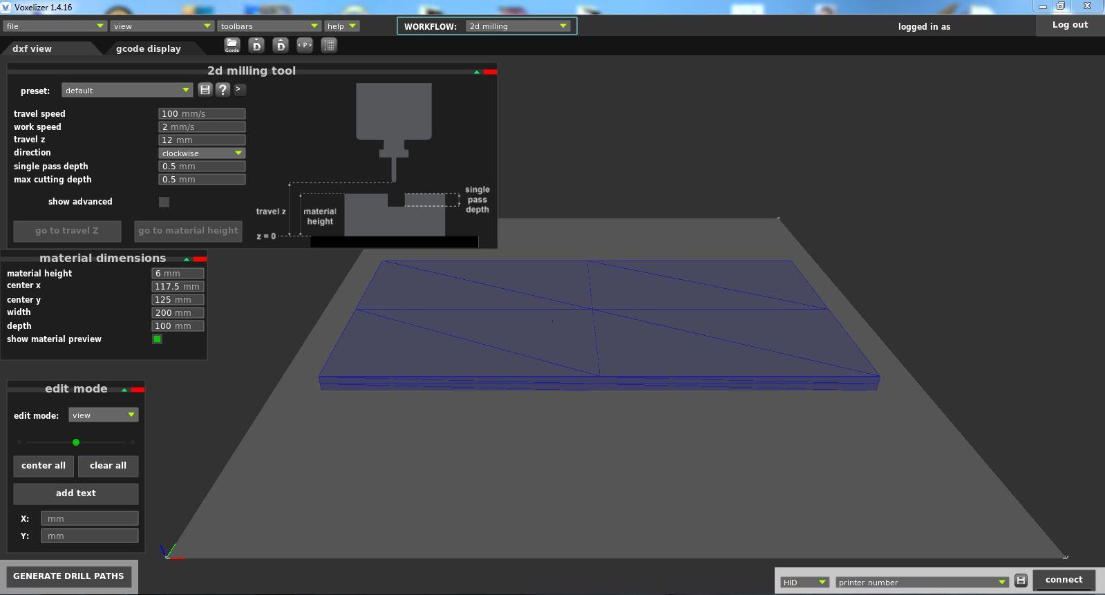 2D Milling in Voxelizer: Basic Settings – ZMorph Knowledge Base